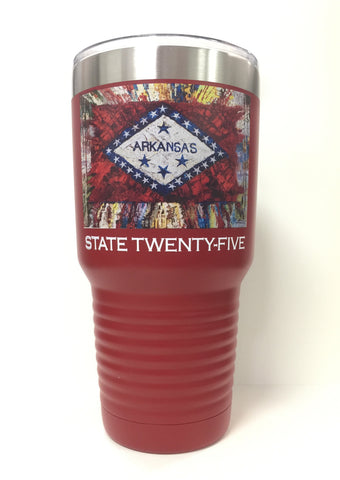 Arkansas State Flag 30 Oz. Polar Mug... Red