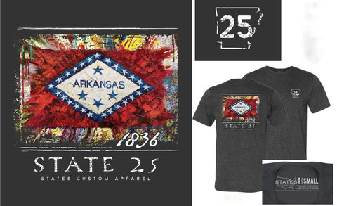 Arkansas - State 25 Grey