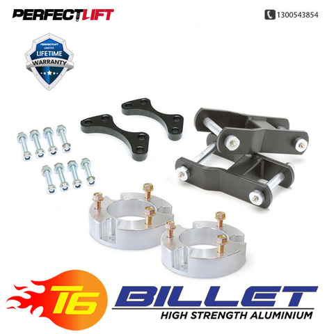 "T6 Billet Aluminium Spacers 3"" Front and 2"" Rear Isuzu DMAX LIFT KIT 2012 Onwards 4wd only"