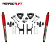 "2.5"" Front and 2"" Rear Lift Kit Nissan Navara D40 Pro Shock"