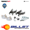 "T6 Billet Aluminium Spacers 2.5"" Front and 2"" Rear Lift Kit Nissan Navara D40"
