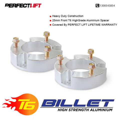 "T6 Billet Aluminium Spacers 2.5"" Front Leveling LIFT KIT Ford Everest 2015 Onwards"