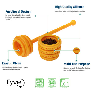 Honey Hive Stirrer Tea Infuser/Honey Dripper
