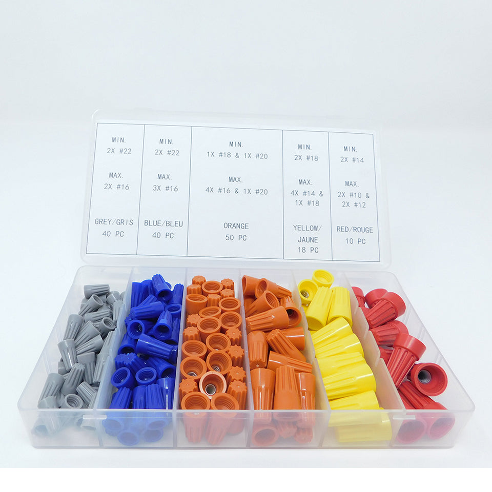 158 PC Electrical Wire Caps Connectors Screw Terminals