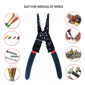Multi Wire Stripper Crimper Tool - Self-Adjusting Wire Cutter with Grip Hand Tool for Industry and Home Work