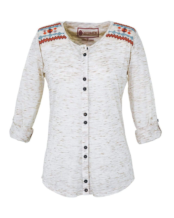 Outback Trading Company Women's Lilly Tee Natural / 2X 40135-NAT-2X 789043340860