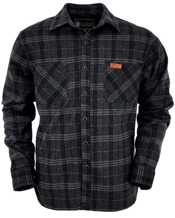 Outback Trading Company Men's Clyde Big Shirt Black / MD 42667-BLK-MD 789043349405 Shirts & Tops