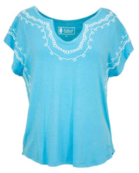 Outback Trading Company Women's Holly Tee Blue / SM 40175-BLU-SM 789043362862 Shirts & Tops