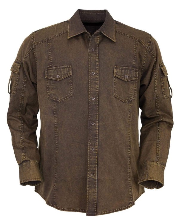 Outback Trading Company Men's Morris Shirt Brown / MD 42681-BRN-MD 789043354898 Shirts & Tops