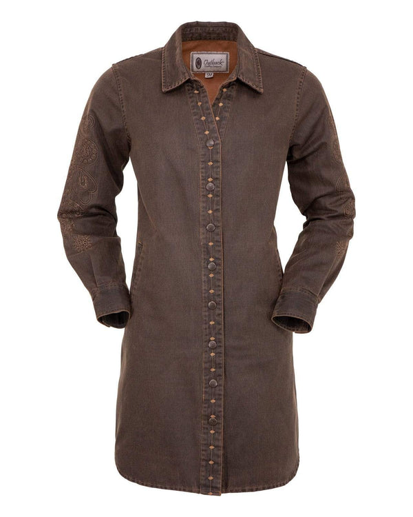 Outback Trading Company Women's Constance Dress Brown / SM 50108-BRN-SM 789043368598 Shirts & Tops