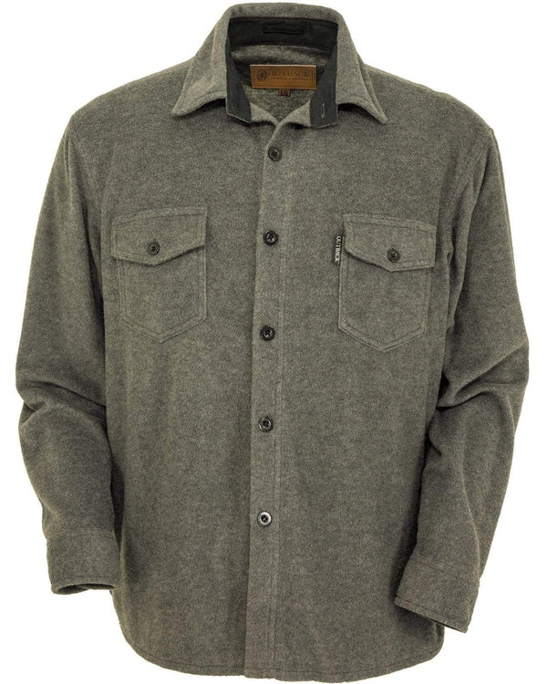 Outback Trading Company Men's Solid Big Shirt Charcoal / SM 42690-CHR-SM 789043360981 Shirts & Tops