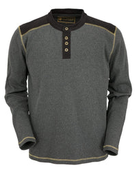 Outback Trading Company Men's Pike Thermal Henley Grey / SM 41100-GRY-SM 789043359756 Shirts & Tops