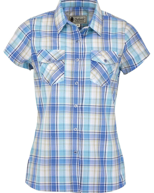 Outback Trading Company Women's Lucy Performance Shirt Periwinkle / 2X 42221-PWK-2X 789043354652 Shirts & Tops