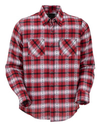 Outback Trading Company Men's Raynor Flannel Red / MD 42708-RED-MD 789043368024 Shirts & Tops