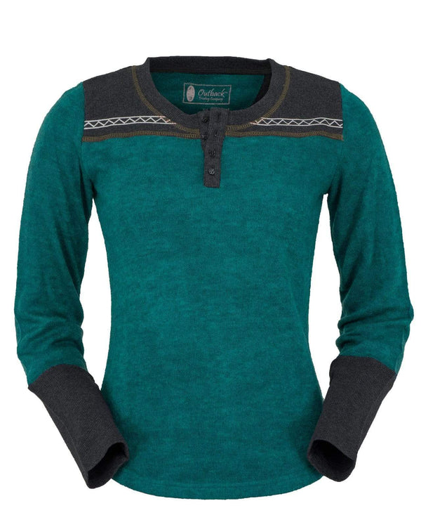 Outback Trading Company Women's Becky Tee Teal / 2X 40146-TEL-2X 789043359299 Shirts & Tops