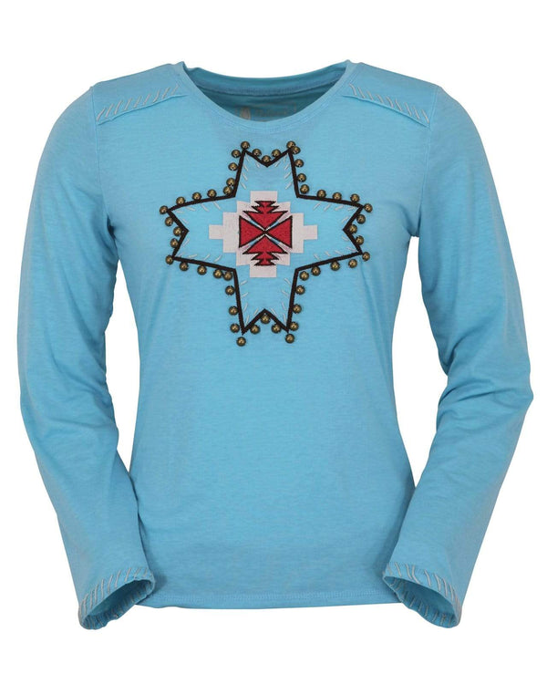 Outback Trading Company Women's Legend Tee Turquoise / SM 40151-TUR-SM 789043345063 Shirts & Tops