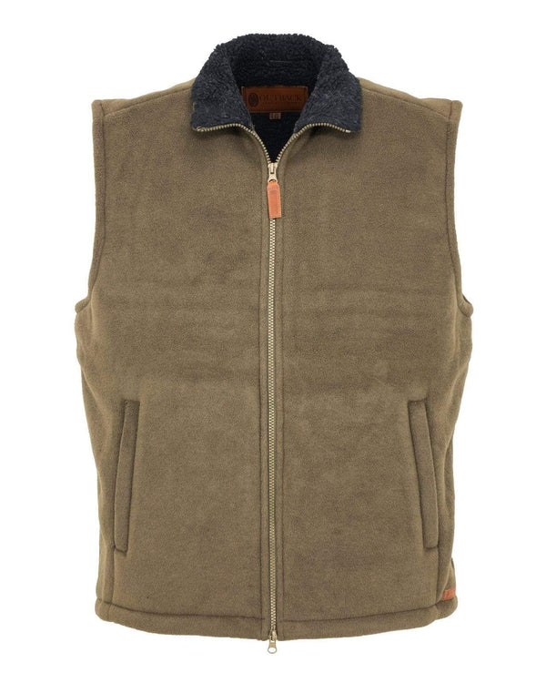 Outback Trading Company Men's Summit Fleece Vest Breen / SM 4834-BRE-SM 089043649469 Vests