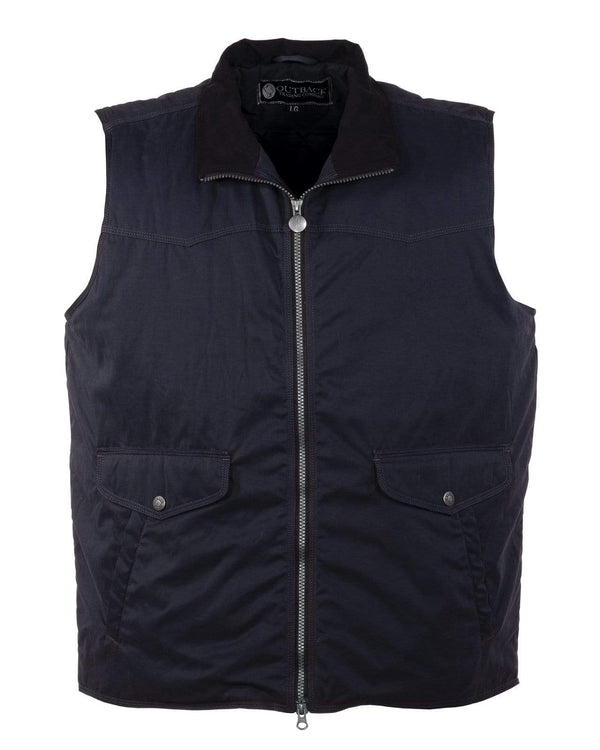 Outback Trading Company Men's Rodman Vest Dusty Navy / MD 29751-DSN-MD 789043373523 Vests