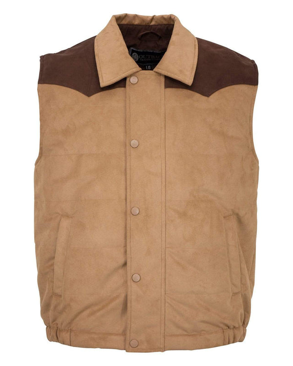 Outback Trading Company Men's Clay Vest Tan / MD 29741-TAN-MD 789043366884 Vests