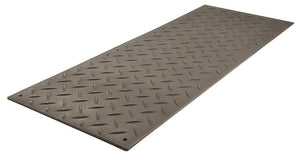AlturnaMATS 2' x 4' Ground Protection Mats: Black / STD (2-Sided Traction)