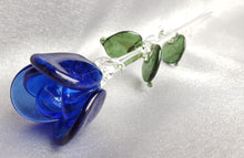 Forever Rose - Blue Glass Rose