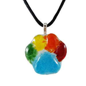Forevermore Pendant - Rainbow Bridge Pawprint
