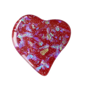 Hold My Heart Pocket Stone - Red Multi Color