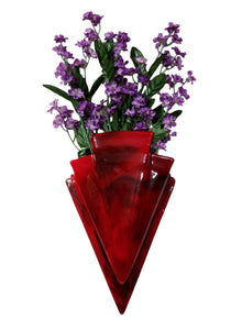Hanging Wall Vase - Red Rose