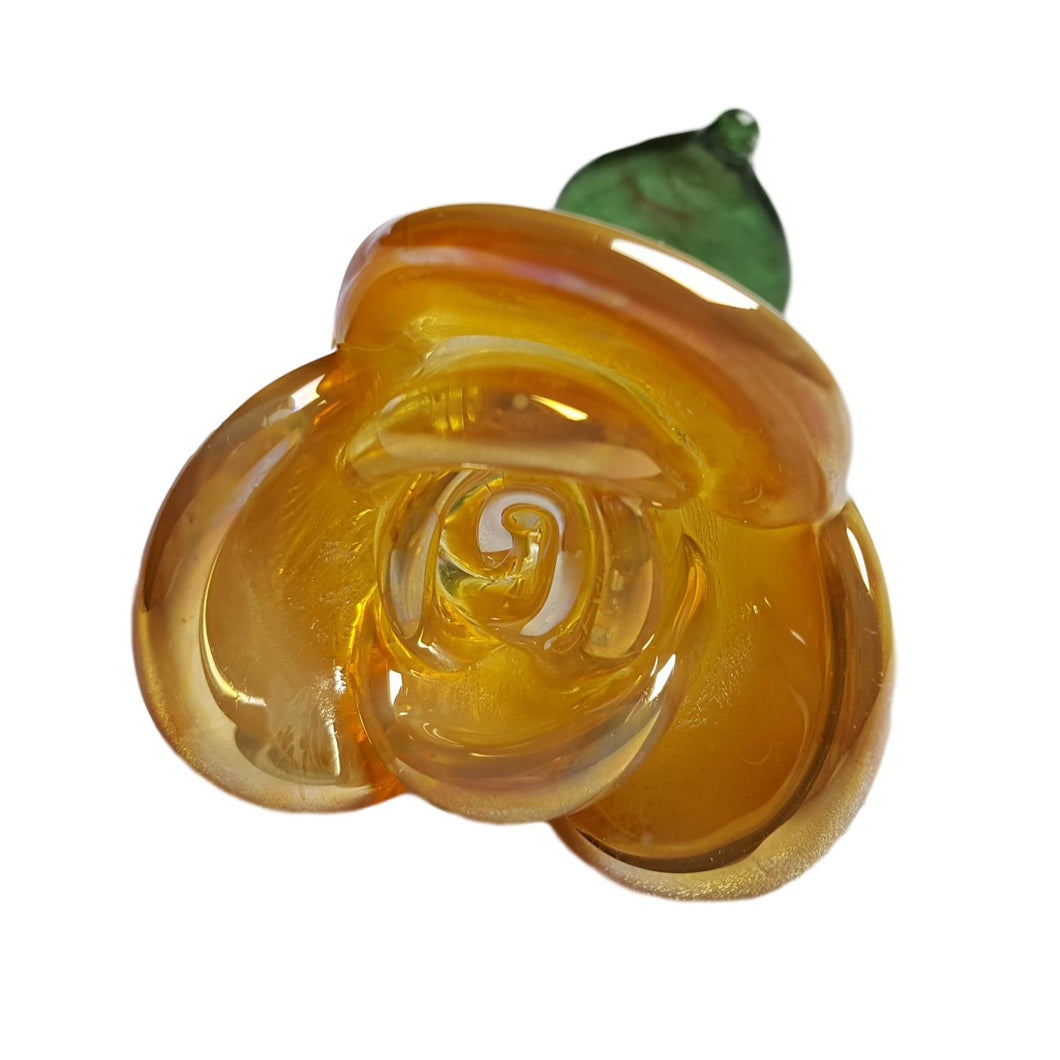 Forever Rose - Yellow Glass Rose