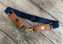 Cheval Stretch Belt ~ NAVY/TAN