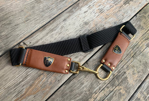 Cheval Stretch Belt ~ BLACK/TAN