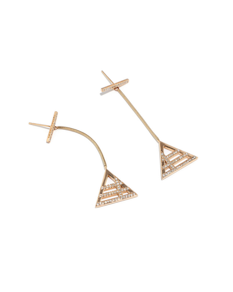 LINE DROP EARRINGS