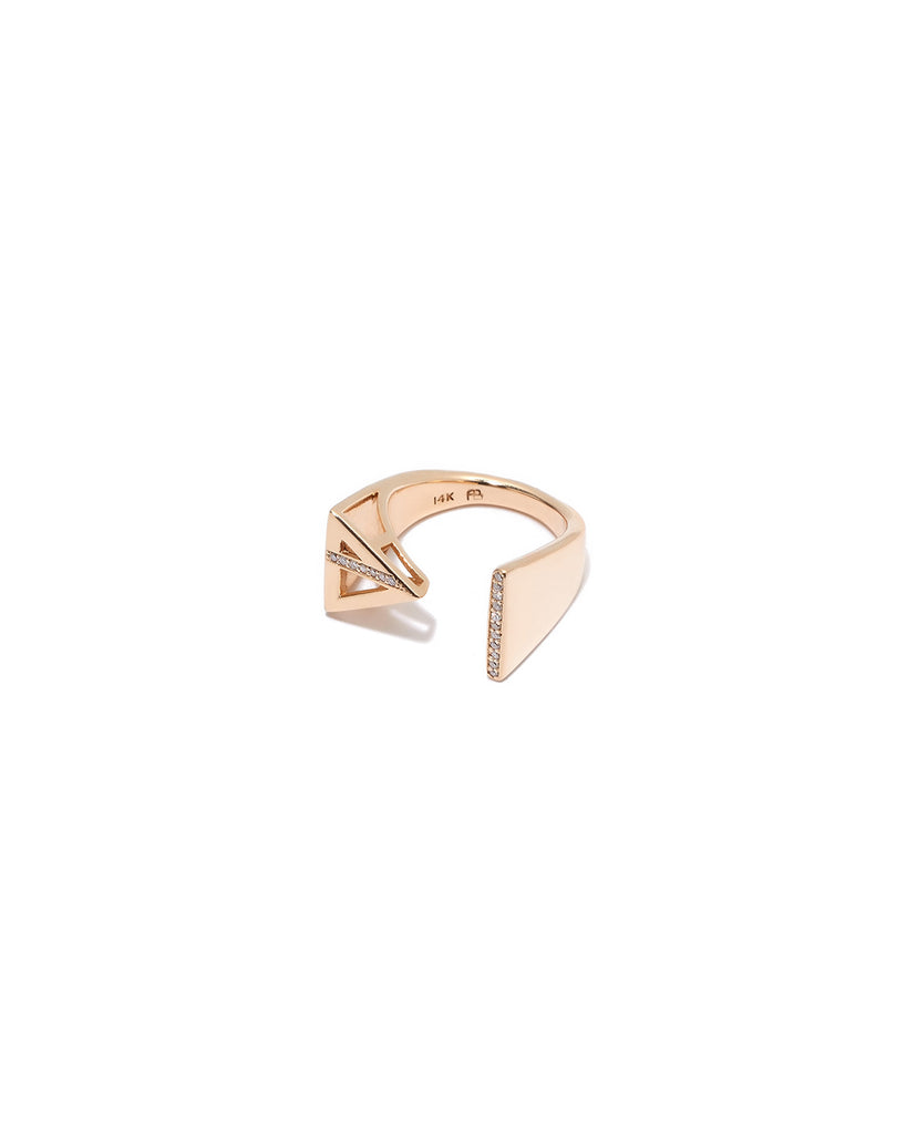 TRIANGLE & LINE RING