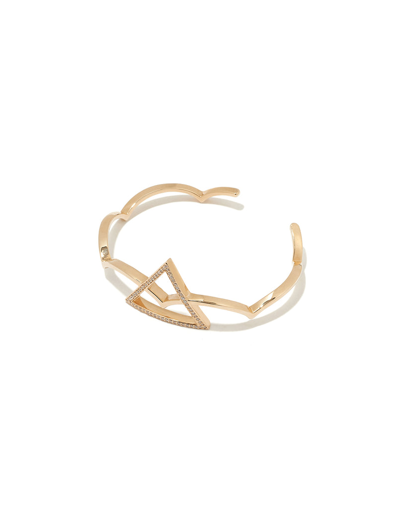 Arc and triangle bracelet