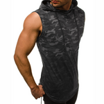 Camo Sleeveless Hooded Tank