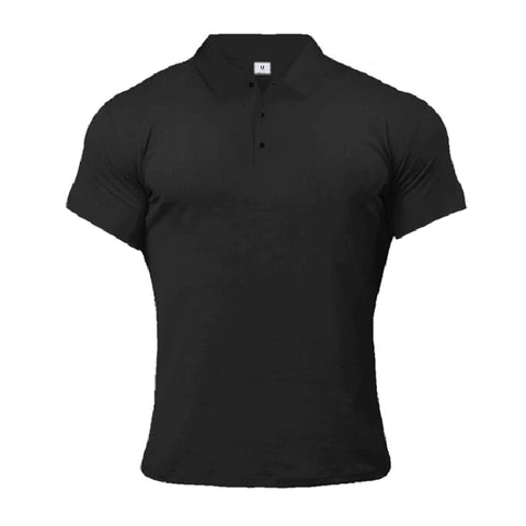 Elegant Button Up Polo Shirt