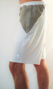 Gobi-Dri Men's Performance Shorts - White with Gray Gobi-Dri inserts.