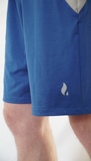 Gobi-Dri Men's Performance Shorts - Blue with Gray Gobi-Dri Insert