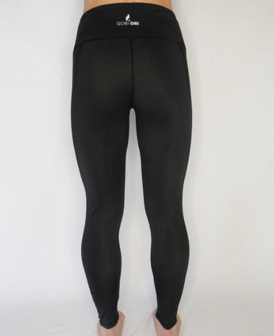 Women's  Gobi-Dri Performance leggings in black -black insert