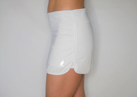 Gobi-Dri Women's Performance/Tennis Skirts - White with Gray Gobi-Dri insert.