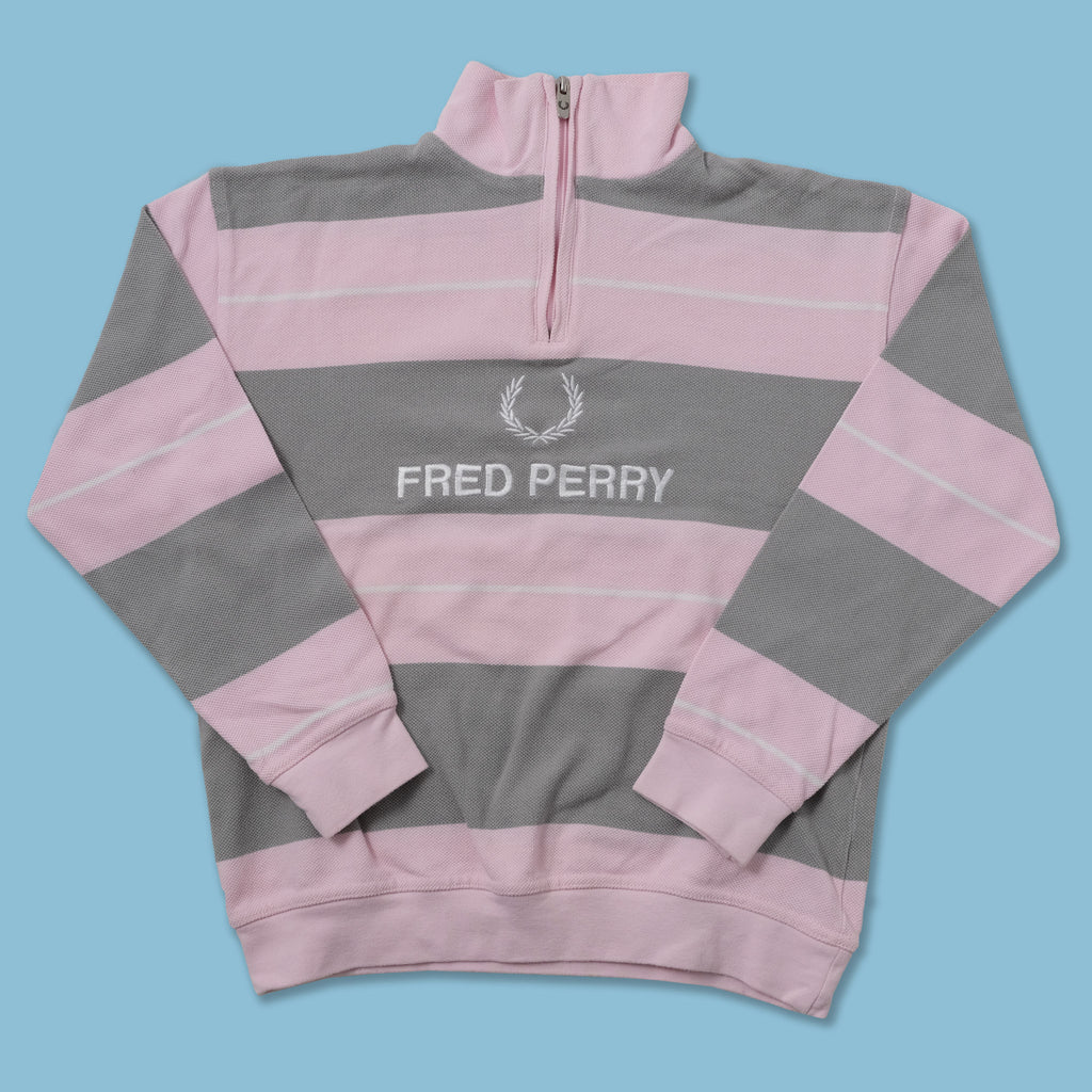 Vintage Fred Perry Women's Q-Zip Sweater XSmall - Double Double Vintage