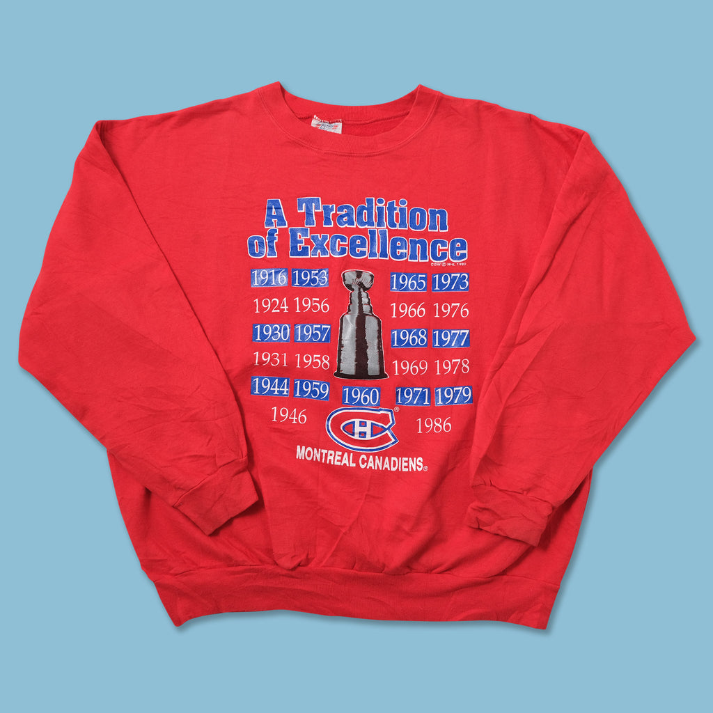 Vintage 1990 Montreal Canadiens Sweater Large - Double Double Vintage