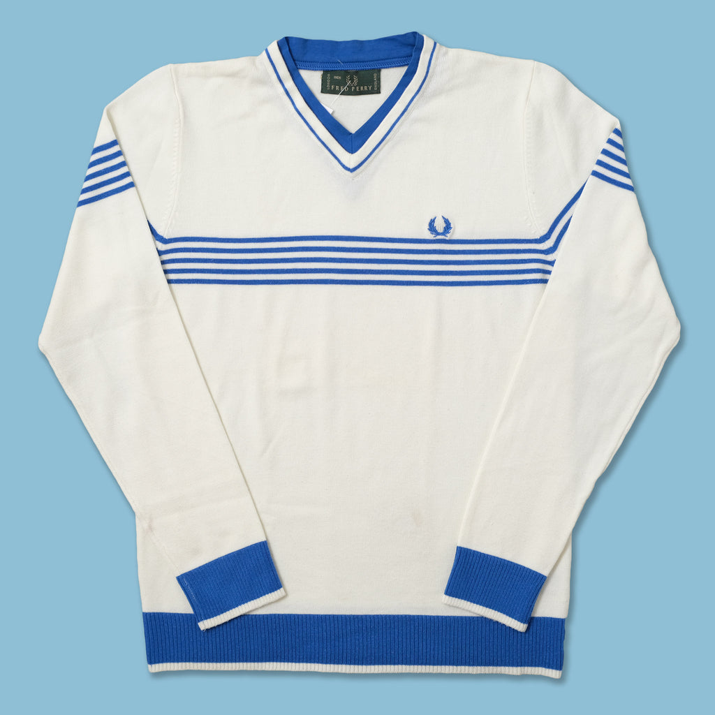 Vintage Fred Perry V-Neck Sweater Small