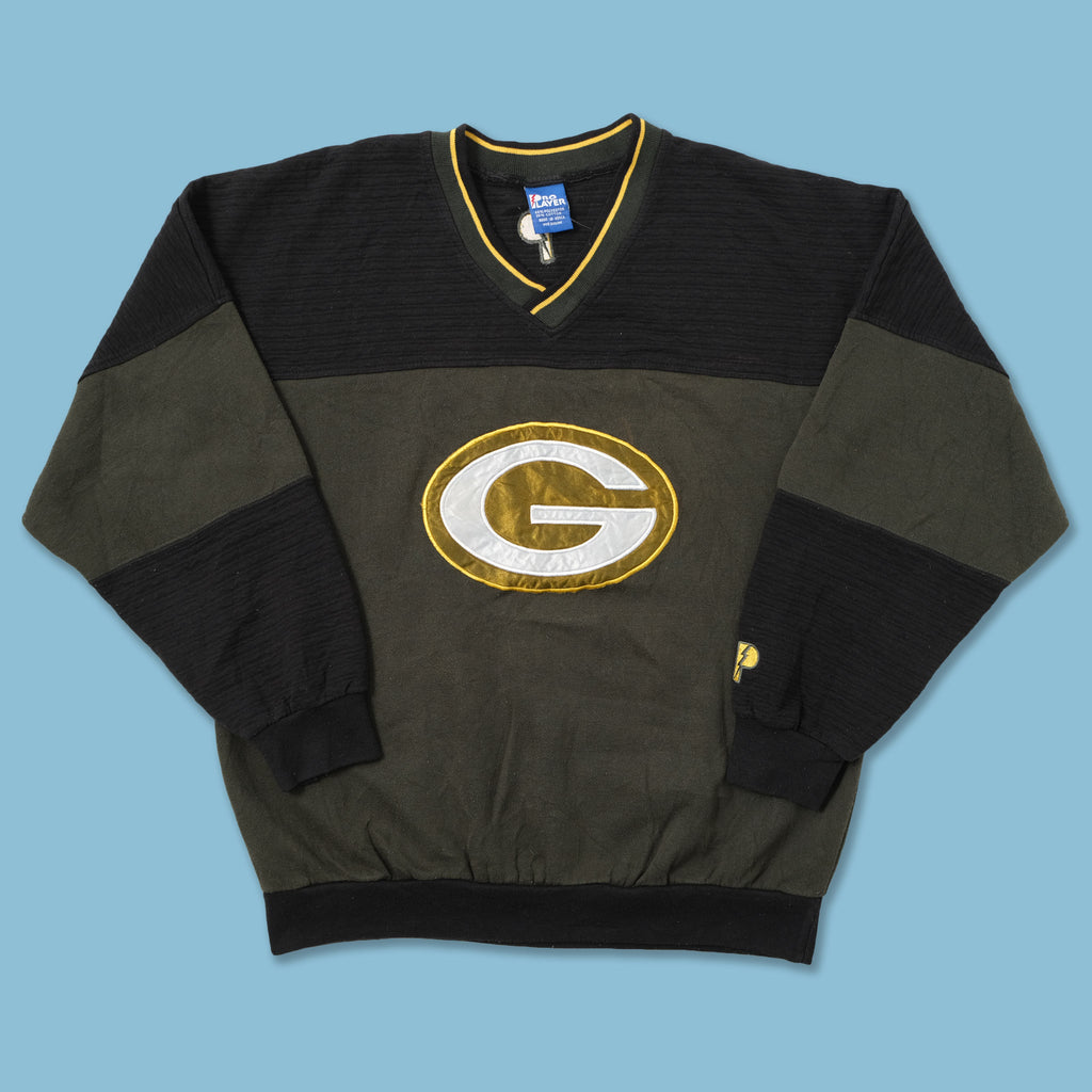 Vintage Green Bay Packers V-Neck Sweater Medium