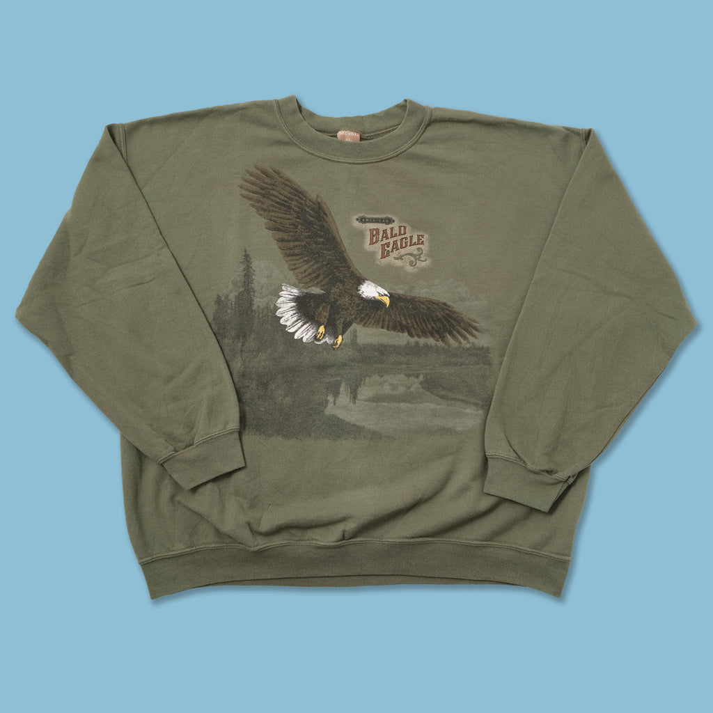 Vintage Bald Eagle Sweater Large