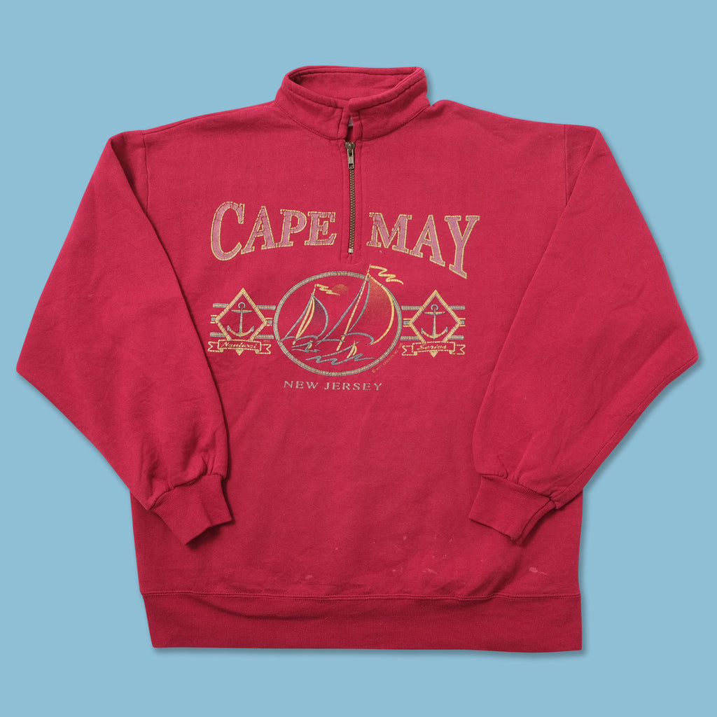 Vintage Cape May Q-Zip Sweater Large