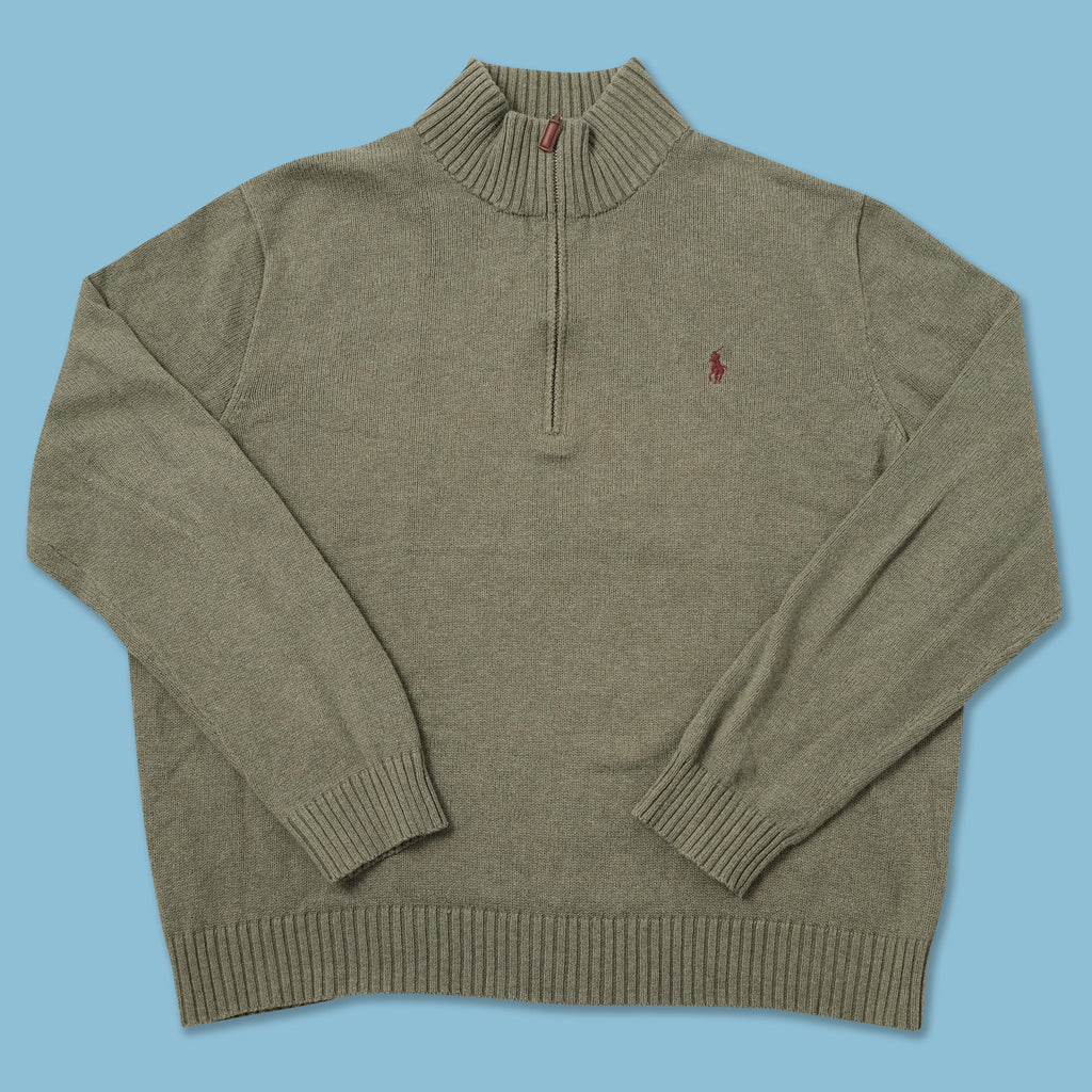 Vintage Polo Ralph Lauren Q-Zip Knit Sweater XXLarge