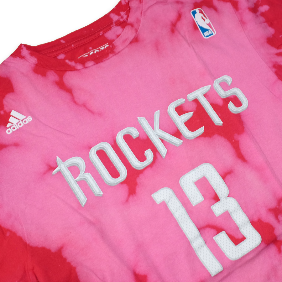 adidas James Harden Rockets T-Shirt Large - Double Double Vintage