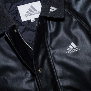 Vintage adidas Leather Coach Jacket Large
