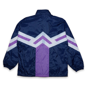 Vintage adidas Zig-Zag Rainjacket Navy/White/Purple